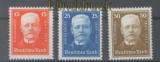 dt. Reich Mi # 404/06 drei Werte Geburtstag Hindenburg  postfrisch (44564)