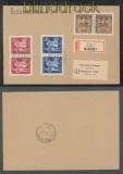 Böhmen und Mähren Mi # 133/35 (2) waagerechte Paare R-Brief Prag 1944 (43245)