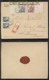 Böhmen und Mähren Mi # 140 LW + 141 LW und 2 x # 89 R-Brief 1944 (43247)