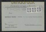 Böhmen und Mähren Dienst Mi #  2 (3) MeF auf Dienstbrief 4.2.1941 (43276)