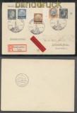 Elsass MiF mit Lothringen, Luxemburg  und Reich Eil-R-Brief SSt. Strassburg 1941(43005)