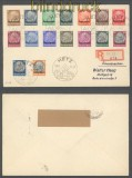 Lothringen Mi # 1/16 auf Satz-R-Brief SSt.Metz 1940 (43043)
