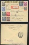 Lothringen Mi # 1/16 auf zwei Satz-R-Briefen Großblittersdorf 18.2.1941 (43044)