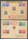 Elsass Mi # 1/16 auf zwei Satz-R-Briefen Strassburg 1940  (43040)