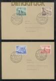 dt. Reich Mi # 739/42 auf zwei Ersttagsbriefen SSt. Leipzig 3.3.1940 (43082)