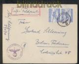 dt. Reich Feldpost 2. WK Luftpost-Feldpostbrief FP # 59070 Organisation Todt 1945 (43102)