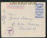 dt. Reich Feldpost 2. WK Luftpost-Feldpostbrief FP # 59070 Organisation Todt 1945 (43101)
