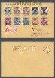Generalgouvernement Mi # 14 II, 19, 24-28, 33 I + 34 a R-Brief Lowitsch 17.4.1940 (43113)