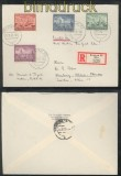 Generalgouvernement Mi # 92/95 Satz-R-Brief Krakau 9.12.1942 (43147)