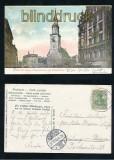 BERLIN farb-AK Kaiser Wilhelmstrasse und Marienkirche 1905 (d7210)