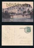 HALLE a. S.  farb-AK Moritzburg Wasserseite 1911 (d7271)