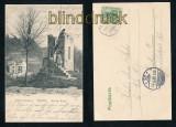WEHLEN sw-AK Sächs. Schweiz Auf der Ruine 1905 (d7273)