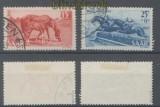 Saarland Mi # 265/66 gestempelt Tag des Pferdes 1949 geprüft Geigle BPP (44468)