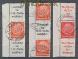 dt. Reich drei Zusammendrucke Mi # S 132, S 134 und S 144 gestempelt (44810)