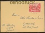 DDR Mi #  287 EF Fernbrief Eisfeld Deutsch-Chinesische Freundschaft 1951 (44708)