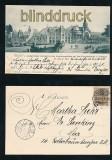 HAMBURG sw-AK Möllers Entwurf Empfangsgebäude Hauptbahnhof 1901 (d7150)