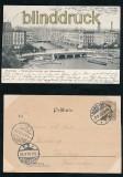 HAMBURG sw-AK Reesendammbrücke und Alsterarkaden 1901 (d7159)