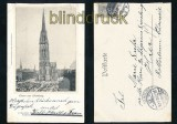 HAMBURG sw-AK Nicolai.Kirche und Hopfenmarkt 1902 (d7166)