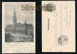 HAMBURG sw-AK Rathaus 1901 (d7167)