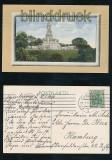 HAMBURG farb-AK Bismarckdenkmal 1914 (d7175)