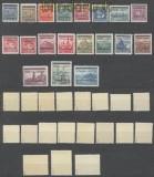 Böhmen und Mähren Mi # 1/19 Aufdrucksatz postfrisch signiert (45167)