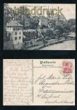 Basel sw-AK Deutschrittergarten mit Münster 1909 (a2146)