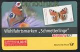 Bund Markenheftchen Mi # 60 Wohlfahrtsmarken Schmetterlinge mit Abart postfrisch (44815)
