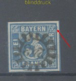 Bayern Mi #   2 II mit Nummernstempel 243 mit Plattenfehler ??? auf Briefstück (45157)