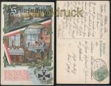 Bahnpost Schlesien Strehlen - Brieg auf Militaria-Karte 1915 (d7436)