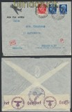 Italien Auslands-LuPo-Zensur-Brief Firenze 1941 Deutsche Zensur (44922)