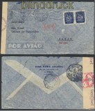Portugal Auslands-Zensur-Brief Lisboa Central 1943 Deutsche Zensur (44930)