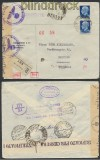 Italien Auslands-Zensur-R-Brief Firenze 1943 Doppel-Zensur (44917)