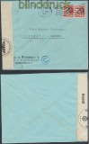 Dänemark Auslands-Zensur-Brief Kopenhagen 1940 Perfin (44884)