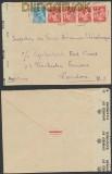 Frankreich Auslands-Zensur-Brief Sandillon 1945 britische Zensur (44895)