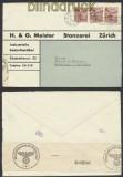 Schweiz Auslands-LuPo-Zensur-Brief Zürich 1941 Deutsche Zensur (44955)