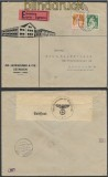 Schweiz Auslands-Eil-Zensur-Brief Seengen 1940 Deutsche Zensur (44957)