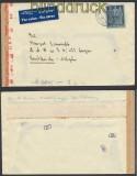 Schweiz Auslands-LuPo-Zensur-Brief Andelfingen 1942 Deutsche Zensur (44972)