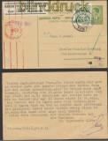 Jugoslawien Auslands-Zensur-Karte Tržic 1941 Deutsche Zensur (44982)