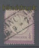 dt. Reich Mi #   1 gestempelt 1/4 Groschen kleiner Schild (45279)