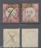dt. Reich Mi #   4 + 19 Groschenmarken im Kreuzerbezirk gestempelt (45281)