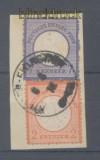 dt. Reich Mi #   8 und 10 gestempelt Briefstück (45285)