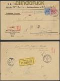 dt. Reich Mi # 47 und 48 MiF portopflichtige Dienstsache Rheinbach zurück 1890 (45059)