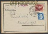 Feldpost 2. WK Mi # 2 A auf kompletter Päckchenadresse ASCH Westsudeten 1943 (45071)