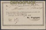 Württemberg Oehringen Postschein 1844 (45073)