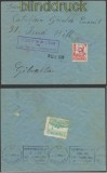Spanien Auslands-Zensur-Brief Jimena de la Frontera 1938 spanische Zensur nach Gibraltar (45020)