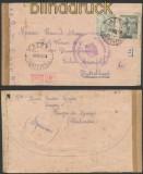 Spanien Auslands-Zensur-Brief Bayona 8.4.1943 Doppel-Zensur (45031)