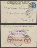 Spanien Auslands-Zensur-Brief Alcira 1944 Doppel-Zensur (45035)