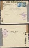 Spanien Auslands-Zensur-Brief Barcelona 1943 Doppel-Zensur (45037)