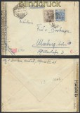 Spanien Auslands-Zensur-Brief Madrid 1944 Doppel-Zensur (44988)