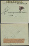 Spanien Auslands-Zensur-Brief Barcelona 1944 spanische Zensur nach Lissabon (44991)